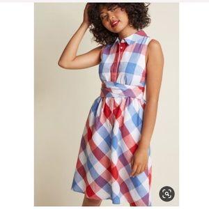 ModCloth- Patio Polish Shirt Dress in Americana-3X